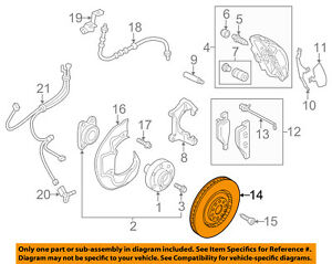 AUDI OEM 11-17 A8 Quattro Front Brake-Disc Rotor 4H0615301AN