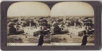 Panorama Alessandria Egitto Foto Stereo Stereoview di Carta Analogica Vintage
