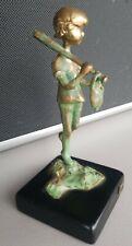 1971 MALCOLM MORAN Bronze BASEBALL BOY  Sculpture