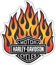 Harley-Davidson Flammen Aufkleber XL 22x19cm Flames Decal Helm Tank HD Flames