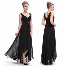 Ever-Pretty Evening Dresses Black V Neck Long Formal Party Prom Gown Gown 9983