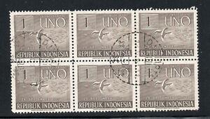 Indonesia - Sc# 367 Block of (6) Used    -       Lot 0220146