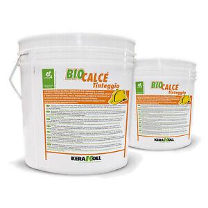 Kerakoll pittura murale naturale certificata eco compatibile BIOCALCE TINTEGGIO