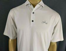 FootJoy Golf Polo Mens M White & Light Grey Diamond Print Ss Lakewood Gc Poly