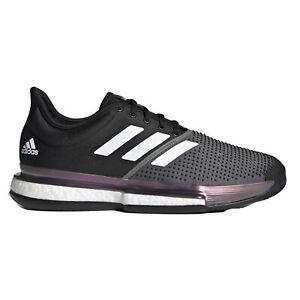 Adidas SoleCourt Primeblue Clay Black Mens Tennis Shoes