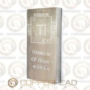 15 oz Titanium Bar Element Design .999 Fine CP Grade 1 Bullion