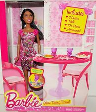BARBIE GLAM DINING ROOM BARBIE DOLL CLOTHES ACCESSORIES  SALE !!!!!