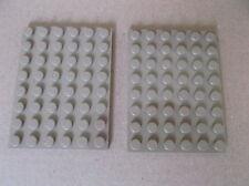 2 Lego 6 x 8 plate dark tan/beige, base, town train city house