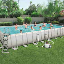 rechteckig 2 m GardenKraft Aufblasbares Schwimmbecken