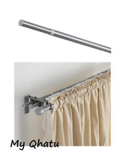 """Ikea HUGAD Curtain Rod silver color 47-83"""", New"""