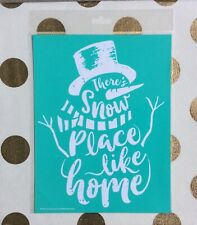 """New In Package """"Snow Place Like Home"""" Chalk Couture Transfer"""