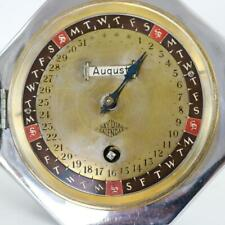 RARE MECHANICAL PERPETUAL CALENDAR DESK CLOCK by W&H with 30 day mechanism
