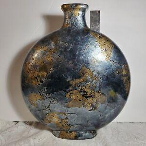 "Beautiful HUGE Circular Vase like a giant moon 14 1/2"" Tall! OA4A02"