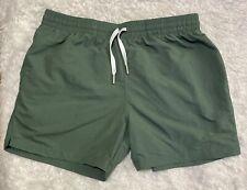 "Chubbies Swim Trunks Men's Size M Green Board Shorts 5"" Inseam"