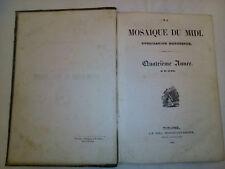 RARE MOSIAQUE DU MIDI 1840