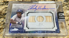 New listing 2020 Topps Sterling RICKEY HENDERSON Game-Used Patch Autograph 3/10 Jersey Auto