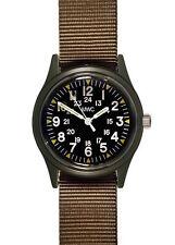 MWC Olive Drab Vietnam War Pattern Military Watch on Nylon Webbing Strap