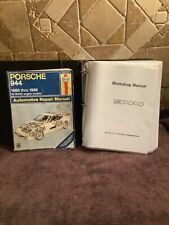Lot PORSCHE 944 Workshop Repair Manuals 3 Ring Notebook & Haynes 1983-1989