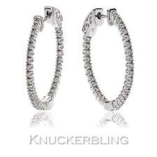 Snap Closure Very Good Cut Natural Fine Diamond Earrings