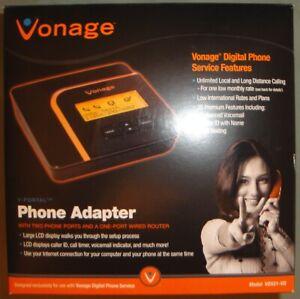 Vonage V-Portal Phone Adapter Model VDV21-VD (EXCELLENT CONDITION) VoIP Calls
