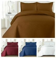 Quilted Bedspread Comforter Microfiber Embossed Bed Pattern With pillow Shams