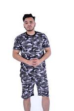 Men's Camouflage T-Shirt & Shorts Full Set With Elasticated Short