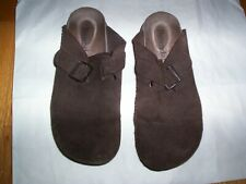 Bjorndal Brown Leather Women's Shoes, Clogs, 7.5