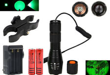 WindFire Green LED Light 300 Yards Tactical Flashlight Adjustable Focus Torch