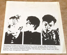 GET SMART numbers and colours*ankle deep in mud 1981 US FRESH FLEXI + INSERT