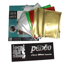 mirror effect craft Pebeo Gedeo mixed colour foil Leaves mixed