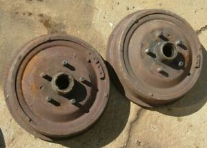 """1957 FORD FRONT BRAKE DRUMS HUBS AND BEARINGS 11' X 2 1/2"""""""