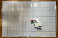 "NEW Laminated Graph Chart Poster 24 X 36"" Math Homeschool Tutor Graphing Design"
