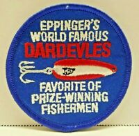 VTG Eppingers World Famous Dardevlrs Fishing Spoon Lures Advertising Patch Devil