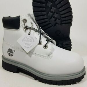 New Timberland 6-Inch Classic Toddlers Boots (14812) White Size 12
