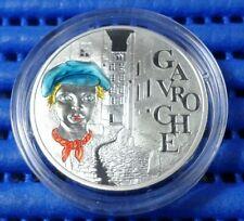 2002 France 1 1/2 Euro Gavroche Victor Hugo Silver Proof Colour Coin
