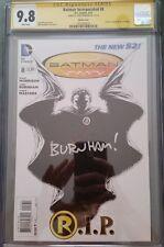 DC Comics BATMAN INCORPORATED #8 CGC SS 9.8 B&W 1:100 Burnham, Death of Robin