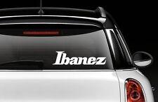 IBANEZ GUITAR LOGO STICKER VINYL DECAL - SELECT SIZE