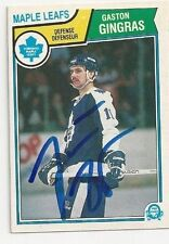 1983/84 O-Pee-Chee Gaston Gingras Toronto Maple Leafs Autographed Card