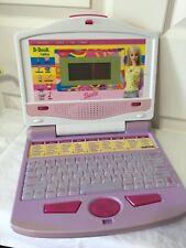 Barbie B-Book Educational Laptop Pink & Purple Spelling Words Vocab Logic Games