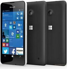 BRAND NEW Microsoft Nokia Lumia 550 Black 4G LTE- Sim Free Mobile Phone-Windows