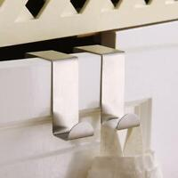 Over Door Hook Stainless Kitchen Cabinet Clothes Hanger Organizer Holder DIY HOT
