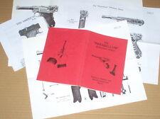 Luger  P-08  --  parabellum  -- Auto Pistol  --  PARTS LIST & MANUAL