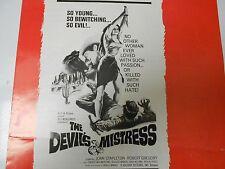 1966 THE DEVIL'S MISTRESS Press Book Kit HORROR WESTERN Joan Stapleton FN+