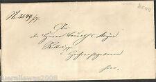 Vorphilatelie Altdeutschland Boten Faltbrief 1857 Stolberg PrePhilatelic Courier