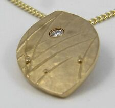 Escocés Ola Gorie 9 Ct Oro Amarillo Mistral Colgante Con Diamante Cadena
