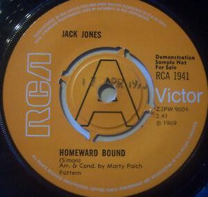 "JACK JONES - Homeward Bound - 7"" Single DEMO"