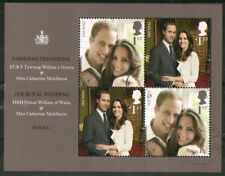 GREAT BRITAIN 2011 WILLIAM AND KATE ROYAL WEDDING MINIATURE SHEET FINE USED