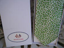 VERA BRADLEY BAEKGAARD Men's Neck Tie PETAL PINK - GREEN LEOPARD New, Silk, Box