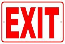 Exit  Aluminum Metal Sign 8 X 12 Red