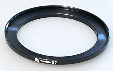 (PRL) ANELLO ADATTATORE 55 <--> 67 mm STEP UP RING ADAPTER FILTER FILTRE BAGUE